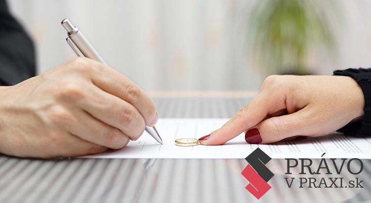 návrh na rozvod manželstva